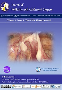 Journal of Pediatric and Adolescent Surgery Volume 1, number 1, 2020 (Jan-Jun)